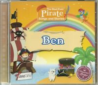 BEN THE BEST EVER PIRATE SONGS AND STORIES PERSONALISED CHILDREN'S CD kids