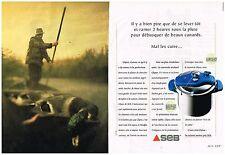 Publicité Advertising 1997 (2 pages) Autocuiseur SEB