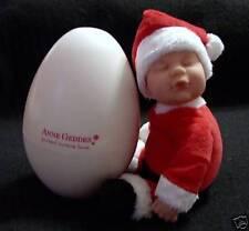 NEW ANNE Geddes NEWBORN Santa CLAUS Baby DOLL IN EGG Rare Gift Christmas
