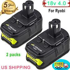 2X18V For Ryobi 4.0Ah P108 One Plus Lithium High Capacity Battery P104 P105 P102
