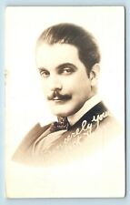 EARLY 1900s SILENT FILM MOVIE STAR JACK DEAN RPPC - KNOWN FOR 'THE CHEAT'