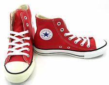 Converse Shoes Chuck Taylor Hi All Star Leather Red Sneakers Womens 6 EUR 36.5