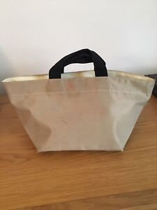 Auth Herve Chapelier Tan Nylon & Synthetic Fibre Tote Bag