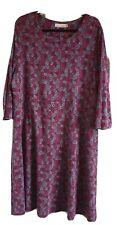 Seasalt Longor Dress, Size 22. Pink, grey mix. Blackberry hedge