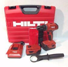 "HILTI Cordless 21.6v 1/2"" 3 Speed Hammer Drill Kit SF 6H-A22 Li-ion w/Case New"