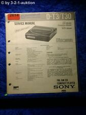Sony Service Manual D T3 / T30 CD Player (#2614)