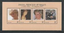 BELIZE # 1091 MNH PRINCESS DIANA MEMORIAL Miniature Sheet