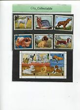 DOGS STAMPS 6V USED & 1 M/S MINT GIBRALTAR # T003