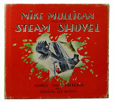 Mike Mulligan and his Steam Shovel ~ VIRGINIA LEE BURTON ~ First Edition DJ 1939