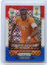 "2014 PANINI PRIZM SOCCER #11 DIDIER DROGBA ""RED WHITE & BLUE XFRACTOR"", 060814"