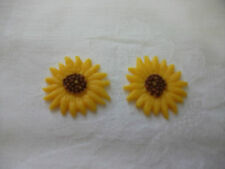 Wachsornament, Wachskunst, Sonnenblume, mittel, 2 Stück, Kerze selbst gestalten