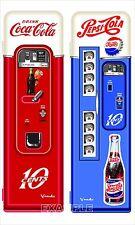 SET OF TWO VINTAGE COCA COLA AND PEPSI MACHINES ADHESIVE VINYL CUSTOM ORDER