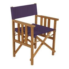Chaises directeur violet remplacement résistant à l'eau couverture toile directeurs de jardin