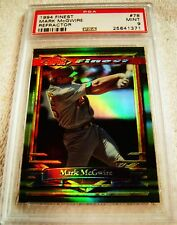 MARK MCGWIRE 1994 TOPPS FINEST REFRACTOR PARALLEL #78 PSA 9 MINT VERY RARE A'S