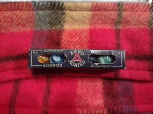 Ultra Rare Akro Agates No. 16 box with 5 mint marbles