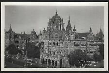 Postcard RPPC Bombay India Victoria Railroad Station