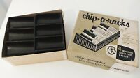 4 Poker Chip Racks - Chip-o-Racks, with Box Vintage Design Bakelite Dark Brown