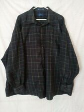 Enro English Twill Shirt Long Sleeve Size 3X blue plaid
