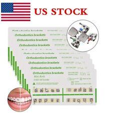 US 10packs Ortho Dental Mini Roth Brackets 022 Slot Hooks 3 4 5 FDA Metal Braces