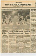 Beatles and Abbey Rd Becomes Memory Lane Simon and Garfunkel July 21 1983  C1
