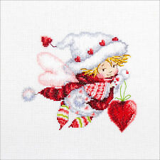 Cross Stitch Kit ~ RTO Little Girl Valentine Fairy w/Hearts #M515
