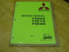 Mitsubishi  Forklift  OEM Service Manual FD-100, 115, 135  NEW LQQK!