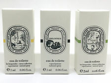 DIPTYQUE L'EAU DE NEROLI,PHILOSYKOS,L'EAU DES HESPERIDES EDT SAMPLE VIAL 0.06 OZ