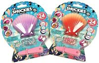 2 Lil' Shuckies Pearl Party Toys 1 Coral 1 Purple, Series One Compound Kings