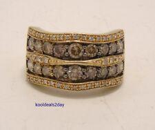 LEVIAN CHOCOLATE and VANILLA DIAMOND RING 2 3/8 CTTW 14K W@W