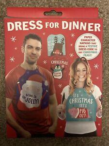 Dress For Dinner Adult Festive Character Bibs/ Napkins Adult Xmas Dinner Fun