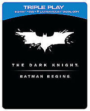 The Dark Knight/Batman Begins (Blu-ray and DVD Combo, 2012, 5-Disc Set, Box Set)
