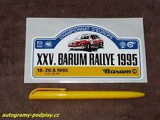 1995 Barum Rally /FORD Escort BASTOS/ - Sticker/Aufkleber