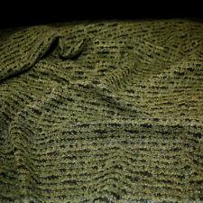 Designer Jersey in oliv schwarz Winter Woll-Stoff als Meterware sehr selten !!!