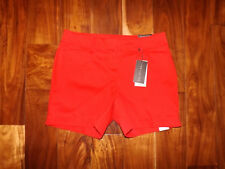 NWT Womens THE LIMITED Harvest Red Classic Flat Front Dress Shorts Size 4