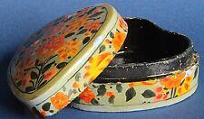 Small India Indian trinket / pill box, 9 x 7.5 x 4 cm some damage *[13884]