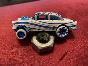 2012 Hot Wheels '55 Chevy Bel Air Gasser  Candycane Wonderland LOOSE
