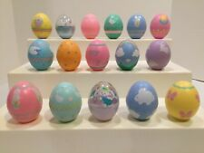 16 Different Hallmark Merry Miniature Plastic Decorated Easter Egg Containers
