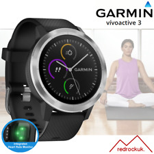 Garmin Vivoactive 3 GPS Multi Sport Smartwatch With Integrated HRM -Black/Silver