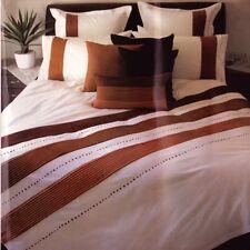 AMAZON Orange Queen Quilt Cover Set Rust Suede White Poly-Cotton Doona Duvet