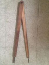 """Vintage 18Th Century Wooden Compass Dividers Rev War Iron Caps 24"""" Nautical"""