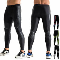 Men's Compression Pants Athletic Workout Active Bottoms Moisture Wicking Tights
