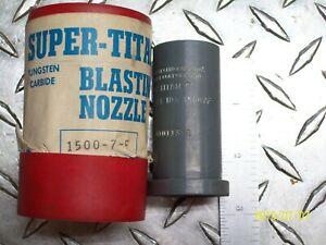 """NEW SUPER-TITAN 1500 7F TUNGSTEN CARBIDE BLASTING NOZZLE 7/16"""" BORE"""