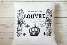 "Paris Louvre - 16"" cushion cover French shabby vintage chic - UK handmade"