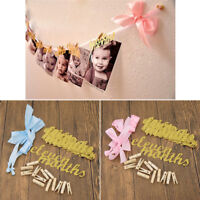 DIY Creative 12 Months First Birthday Monthly Paper Baby Photo Banner Supplies