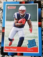 SONY MICHEL 2018 Donruss #1 Draft Pick 1988 RATED Rookie Card SP RC Patriots HOT