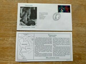 THAILAND 2000 FDC PCS RED CROSSHUMAN BODY ORGANS ORGAN DONATION # RARE #