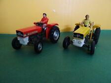 Britains 2 MF 135 Massey Ferguson tractores camión remolcador tractor 1:32 siku