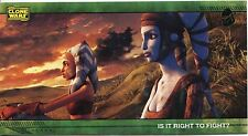 Star Wars Clone Wars Widevision Silver Stamped Parallel Base Card [500] #46