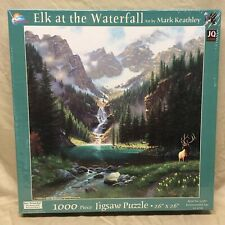 NEW 1000 Pc Jigsaw Puzzle Elk at the Waterfall Mark Keathley Art 26 x 26 SunsOut