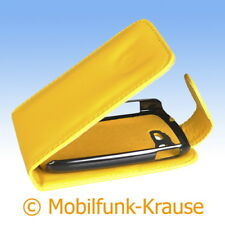 Flip Case Etui Handytasche Tasche Hülle f. Samsung Galaxy Star Duos (Gelb)